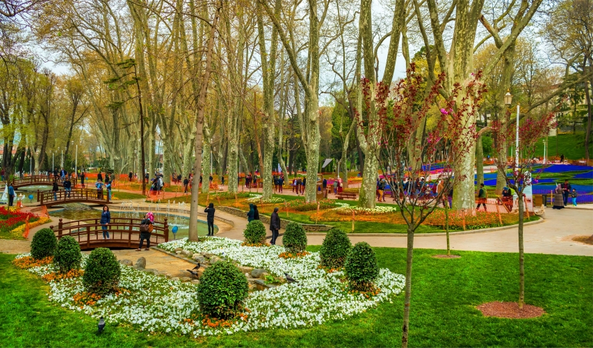 Gulhane Park Gardens Of Topkapi Palace Anatolia Travel Services Pvt Limited Pakistan Turkey Sticker Visa Turkish Visa
